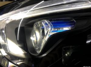 新款奔驰GLE450升级多光束几何大灯效果分享