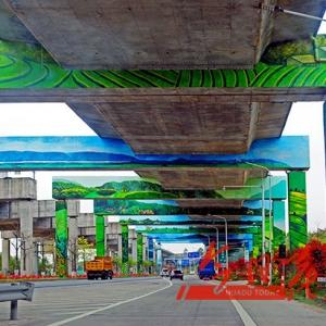 """狮岭镇为乡村振兴发展添力 高架桥底变身美丽""""画廊"""""""